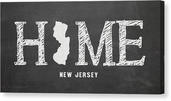 Map Canvas Print - Nj Home by Nancy Ingersoll