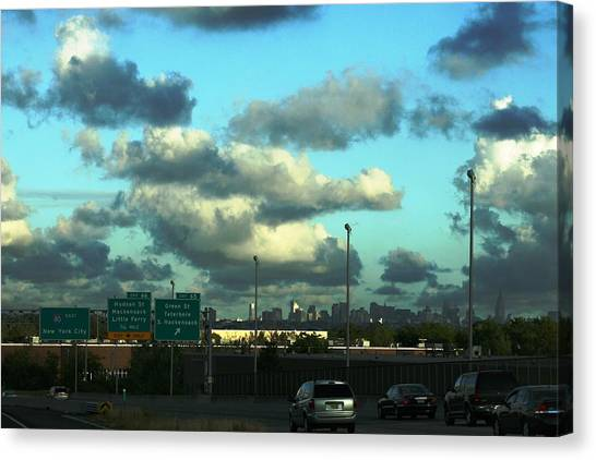 Nj To New York  Canvas Print by Paul SEQUENCE Ferguson             sequence dot net