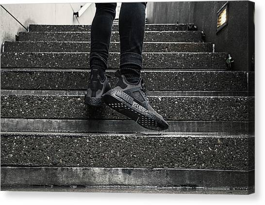 Special Forces Canvas Print - Nmd Xr1 Triple Black by Hani Ramzan