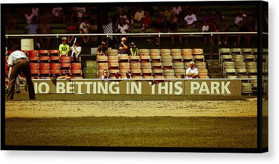 No Betting Poster Canvas Print