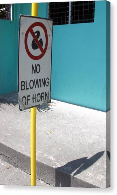 No Blowing Of Horn 2 Canvas Print by Jez C Self