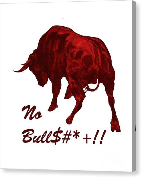 No Bullshit Canvas Print