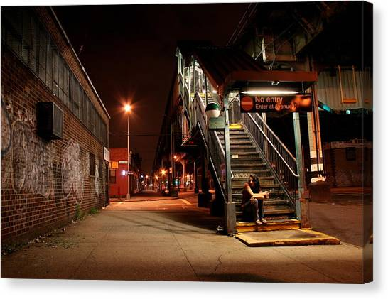 Subway Canvas Print - No Entry by Jason Hochman