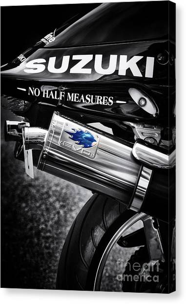 Suzuki Canvas Print - No Half Measures by Tim Gainey