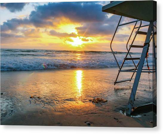 Canvas Print featuring the photograph No Lifeguard On Duty by Alison Frank