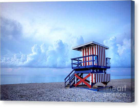 Lifeguard Canvas Print - No Lifeguard On Duty by Martin Williams