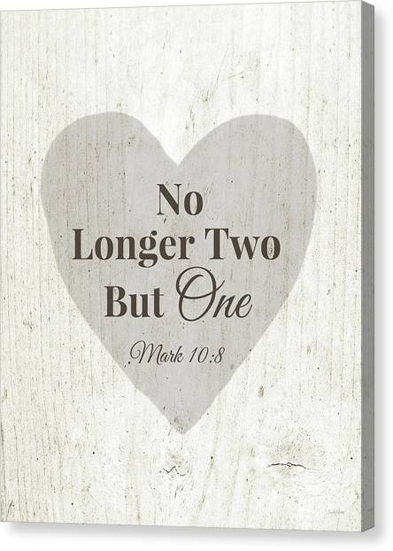 Marriage Canvas Print - No Longer Two- Art By Linda Woods by Linda Woods