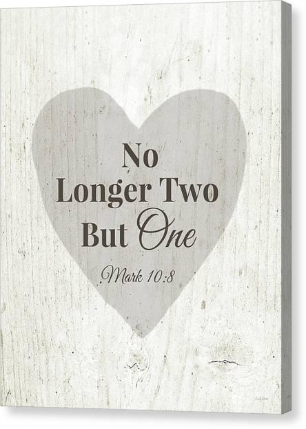 Wedding Canvas Print - No Longer Two- Art By Linda Woods by Linda Woods