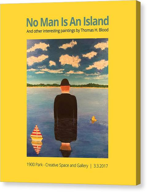 No Man Is An Island T-shirt Canvas Print