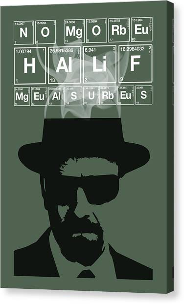 No More Half Measures - Breaking Bad Poster Walter White Quote Canvas Print