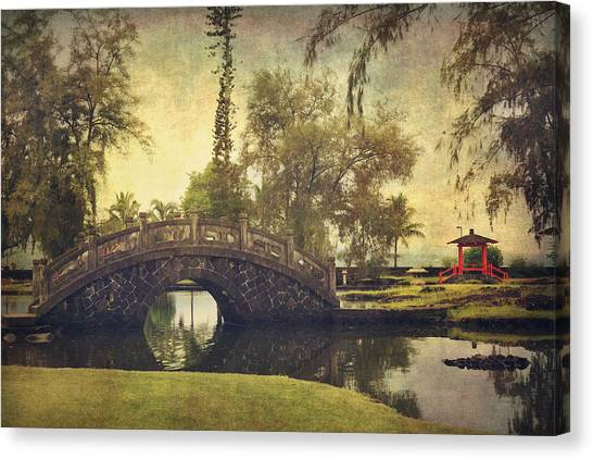 Japanese Garden Canvas Print - No Need To Worry Now by Laurie Search