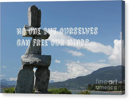Canvas Print featuring the mixed media No One But Ourselves by Wilko Van de Kamp