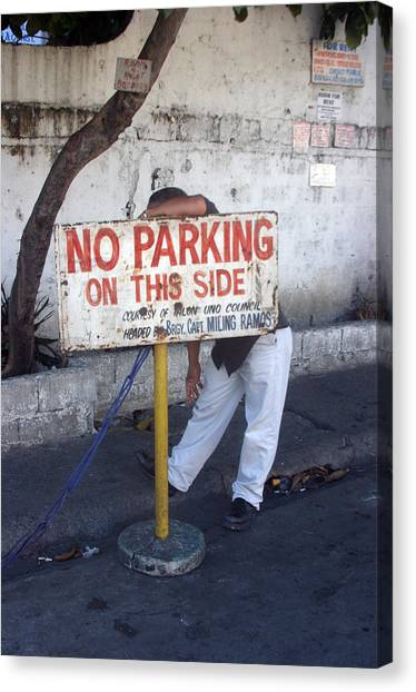 No Parking This Side 2 Canvas Print by Jez C Self