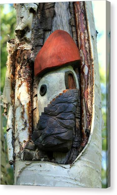 No Place Like Gnome Home Iv Canvas Print by Eric Knowlton