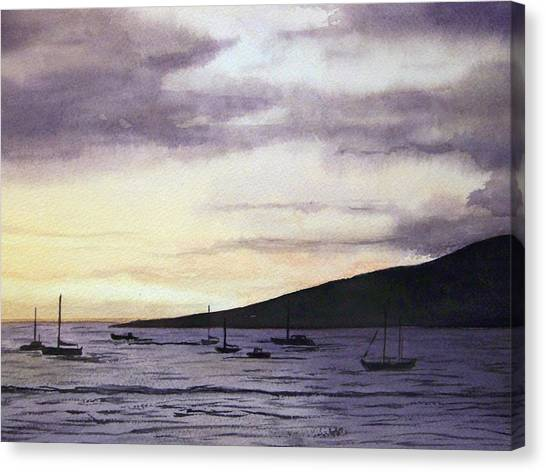 No Safer Harbor Lahaina Hawaii Canvas Print