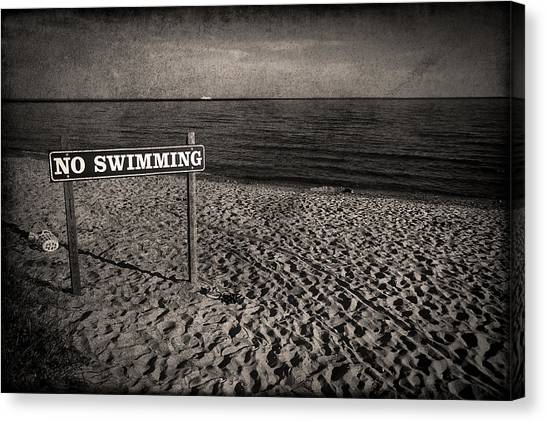 Waterford Canvas Print - No Swimming by Evelina Kremsdorf