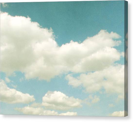 Clouds Canvas Print - No Time No Place No Mind by Violet Gray