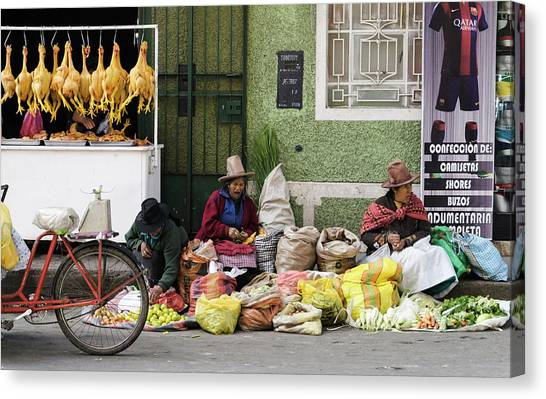 Peruvian Canvas Print - Market, All Day Loooong ... by DiFigiano Photography