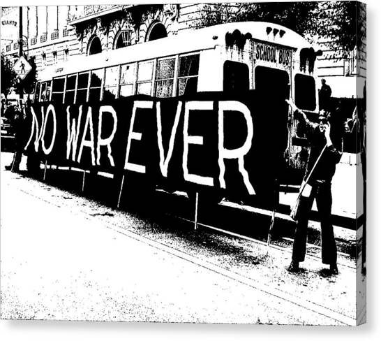 No War Ever Canvas Print by Mark Stevenson