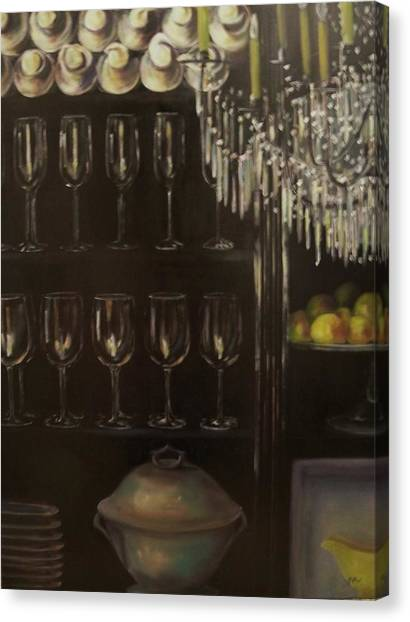 No Whine Dining Canvas Print by Dana Redfern