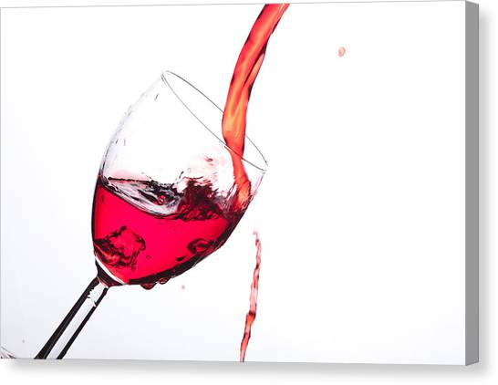 No Wine Was Harmed During The Making Of This Image Canvas Print