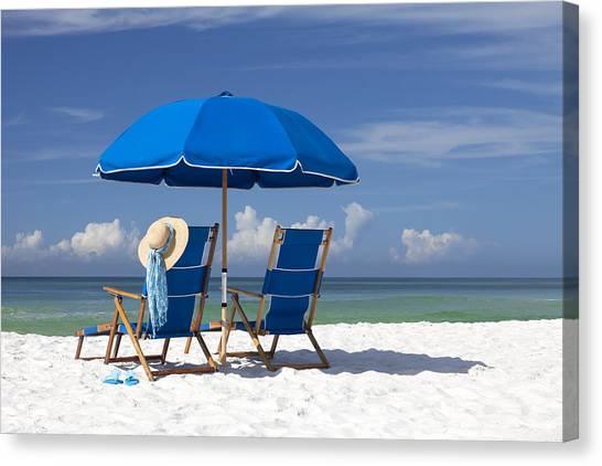 Summer Vacation Canvas Print - No Worries by Janet Fikar