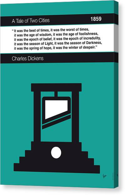 Libraries Canvas Print - No009 My Tale Of Two Cities Book Icon Poster by Chungkong Art