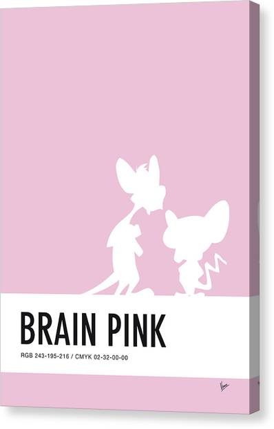 Brain Canvas Print - No01 My Minimal Color Code Poster Pinky And The Brain by Chungkong Art