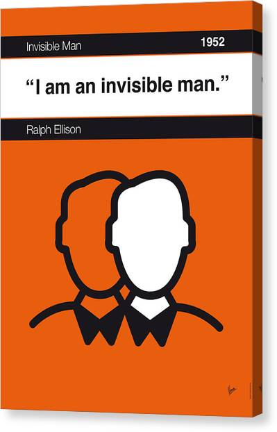 Libraries Canvas Print - No010-my-invisible Man-book-icon-poster by Chungkong Art