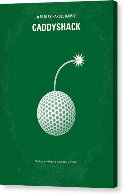Dad Canvas Print - No013 My Caddy Shack Minimal Movie Poster by Chungkong Art