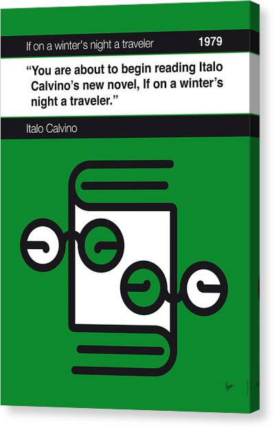 Libraries Canvas Print - No014-my-if On A Winter's Night A Traveler-book-icon-poster by Chungkong Art