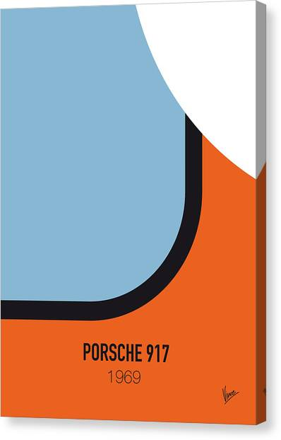 Porsche Canvas Print - No016 My Le Mans Minimal Movie Car Poster by Chungkong Art
