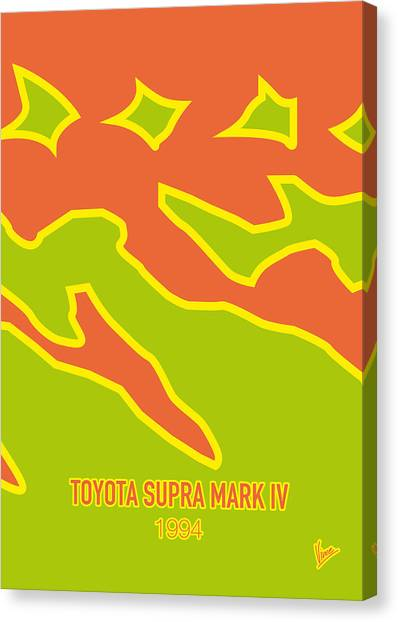 Toyota Canvas Print - No017 My Fast And Furious Minimal Movie Car Poster by Chungkong Art