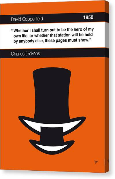 Libraries Canvas Print - No020-my-david Copperfield-book-icon-poster by Chungkong Art