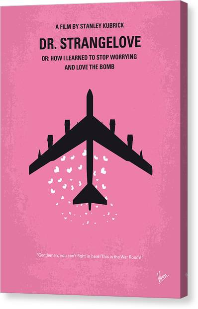 U. S. Presidents Canvas Print - No025 My Dr Strangelove Minimal Movie Poster by Chungkong Art