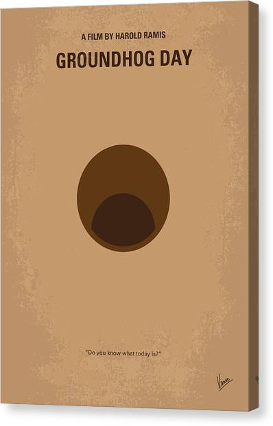 Groundhogs Canvas Print - No031 My Groundhog Minimal Movie Poster by Chungkong Art