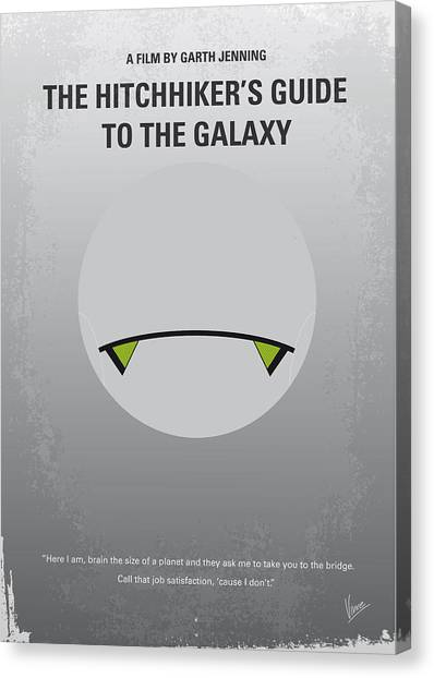 Aliens Canvas Print - No035 My Hitchhiker Guide Minimal Movie Poster by Chungkong Art