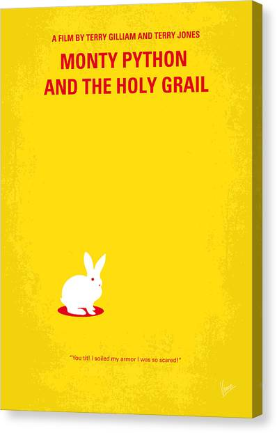 Pythons Canvas Print - No036 My Monty Python And The Holy Grail Minimal Movie Poster by Chungkong Art