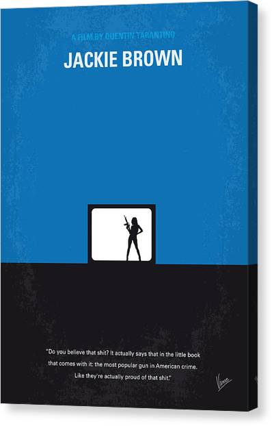 Brown Canvas Print - No044 My Jackie Brown Minimal Movie Poster by Chungkong Art