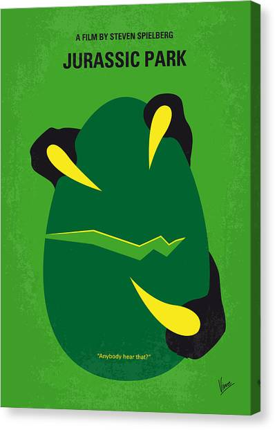 Jurassic Park Canvas Print - No047 My Jurassic Park Minimal Movie Poster by Chungkong Art