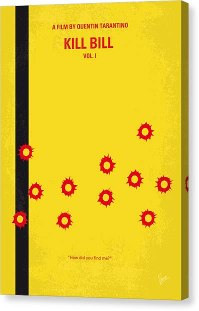 Kung Fu Canvas Print - No048 My Kill Bill -part 1 Minimal Movie Poster by Chungkong Art