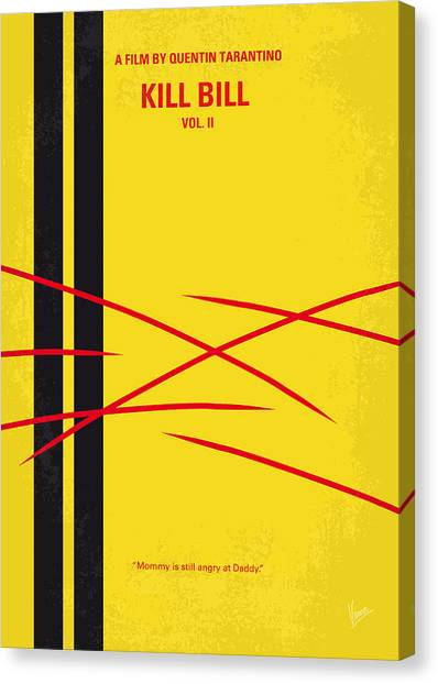 Bride Canvas Print - No049 My Kill Bill-part2 Minimal Movie Poster by Chungkong Art