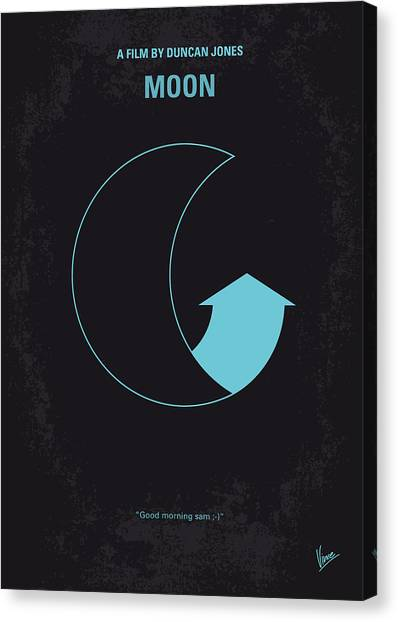 Moon Canvas Print - No053 My Moon 2009 Minimal Movie Poster by Chungkong Art