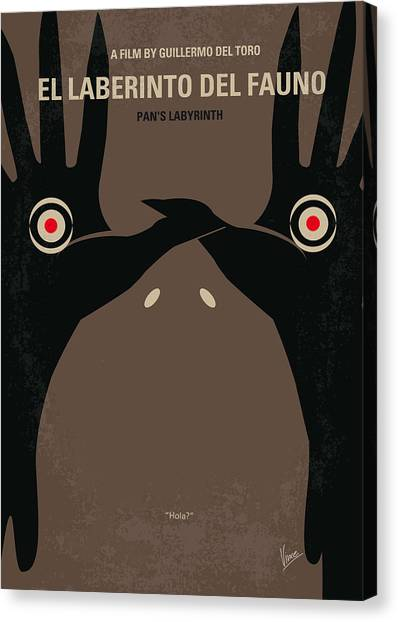 Fairy Canvas Print - No061 My Pans Labyrinth Minimal Movie Poster by Chungkong Art