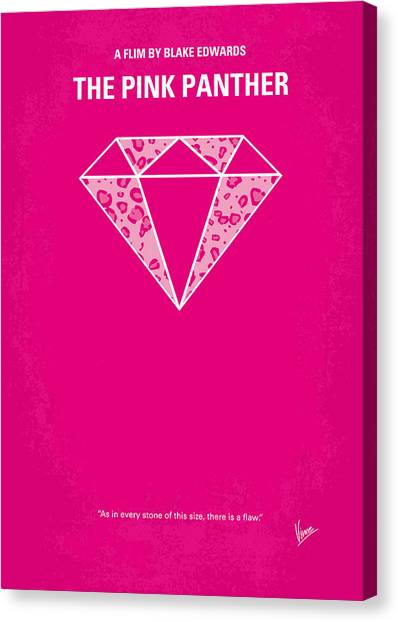 Diamonds Canvas Print - No063 My Pink Panther Minimal Movie Poster by Chungkong Art