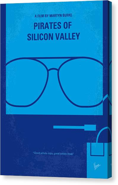 Pirate Canvas Print - No064 My Pirates Of Silicon Valley Minimal Movie Poster by Chungkong Art