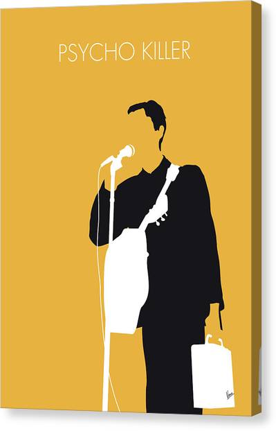 Head Canvas Print - No064 My Talking Heads Minimal Music Poster by Chungkong Art