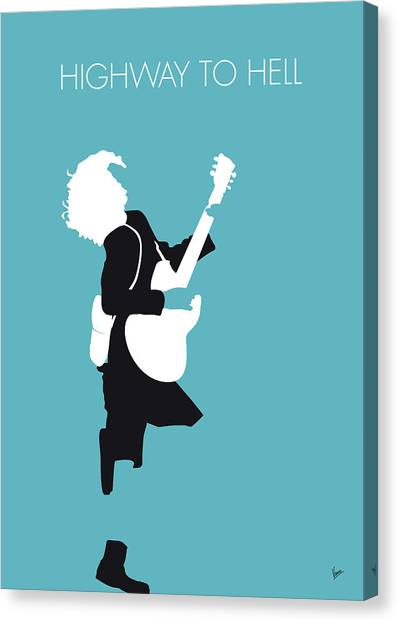 Highways Canvas Print - No065 My Acdc Minimal Music Poster by Chungkong Art