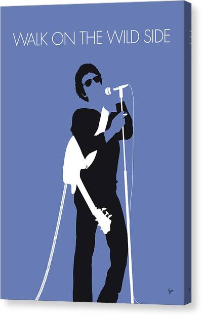 Andy Warhol Canvas Print - No068 My Lou Reed Minimal Music Poster by Chungkong Art