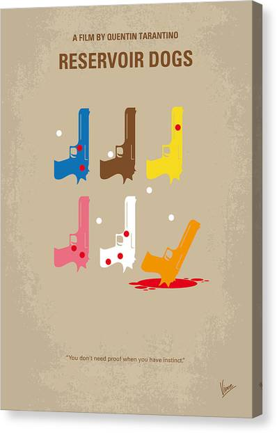 Brown Canvas Print - No069 My Reservoir Dogs Minimal Movie Poster by Chungkong Art